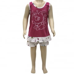 Short Doll Infantil regata Estampado