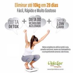Combo Dieta Detox + Dieta do Metabolismo Acelerado + Dieta Low Carb