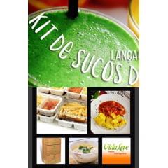 Combo - Nutribox 80 menos de R$5,00 a refeição + Kit 30 sachês de frutas para SUCOS DETOX