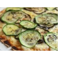 Pizza Integral de Abobrinha com Cream Cheese