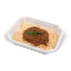 Espaguete Pupunha a Bolonhesa