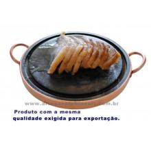 Fondue para carne em pedra sabão chapa com 27 centímetros