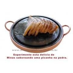 Grelha Para Carne De Pedra Sabão 27 Cm De Diâmetro