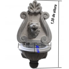 Lavabo de Parede, esculpido a mão em pedra sabão