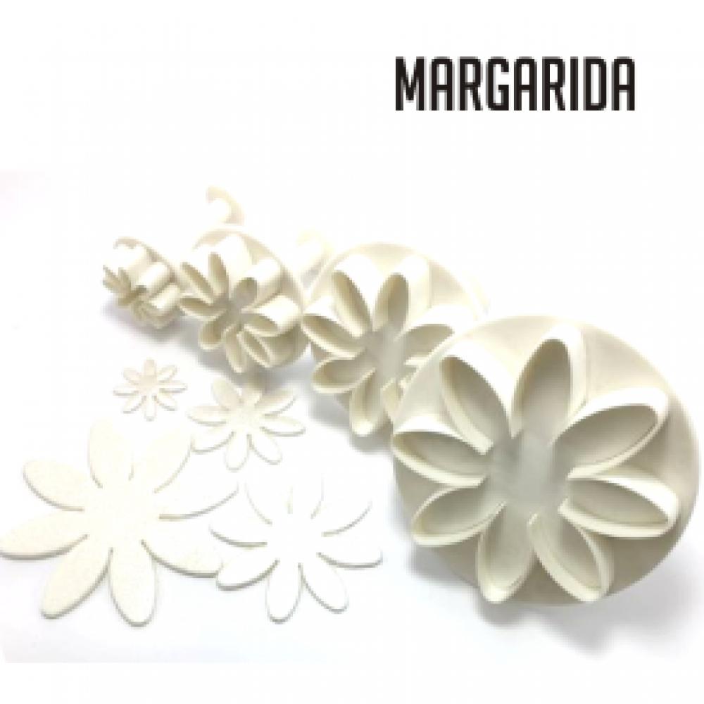 Conjunto de ejetores/marcadores em formato de margarida. 4 peças