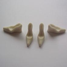 Molde de silicone com Forma de Scarpins com 4 Cavidades. Ideal para utilizar com Pasta Americana.