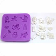 Molde de Silicone de produtos e acessórios de bebê. Ideal para utilizar com Pasta Americana.