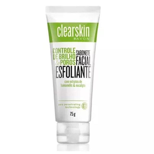 Avon Clearskin Creme Esfoliante Facial de Limpeza Profunda 75g