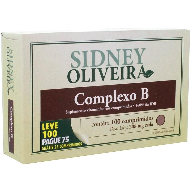 Complexo B 208 mg - Sidney Oliveira Leve 300 Pague 225 Comprimidos