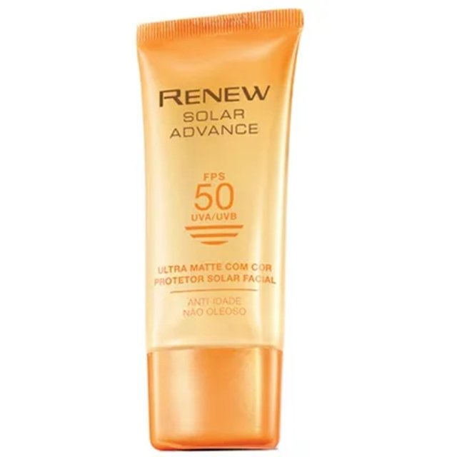 Protetor Solar Com Cor Avon Renew FPS 50 50 ml