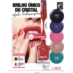 Avon Esmalte Nailwear Pro+ Roxo Crystal 12 ml
