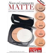 Avon Maquiagem Ideal Face Pó Compacto Facial Efeito Matte FPS 24 Bege Médio 11g
