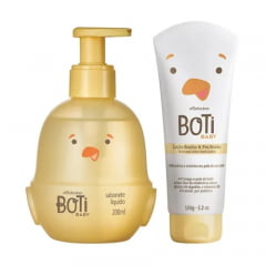 O Boticário Combo Boti Baby Banho: Sabonete Líquido Corpo E Cabelo + Loção Hidratante De Banho E Pós Banho