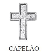 Distintivo de Capelão Metálico