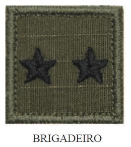 Insígnia de Brigadeiro Bordada com Velcro
