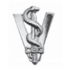 Distintivo de Veterinária Metálico