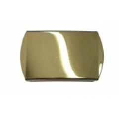 Fivela com banho de ouro