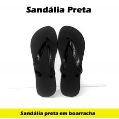 Sandália Preta de Borracha