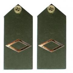 Platina de Subtenente (insígnia metálica) do Exército Brasileiro (EB) RUE