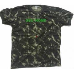 Camiseta meia-manga camuflada + bordado com nome de guerra (Exército Brasileiro)