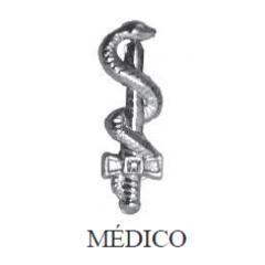 Distintivo de Medicina Metálico