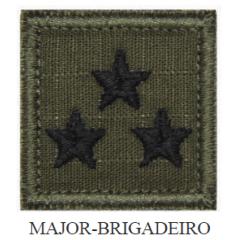 Insígnia de Major-Brigadeiro Bordada com Velcro