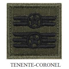 Insígnia de Tenente-Coronel Bordada com Velcro