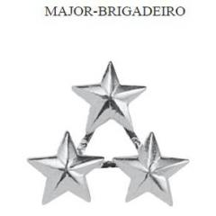 Insígnia de Major-Brigadeiro Metálica