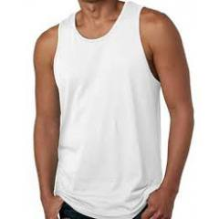 Camiseta branca lisa sem manga
