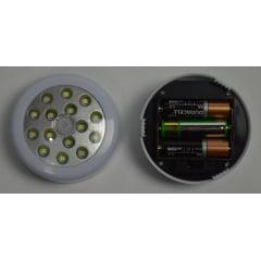 Luminária de led com fixador de imã e 15 leds