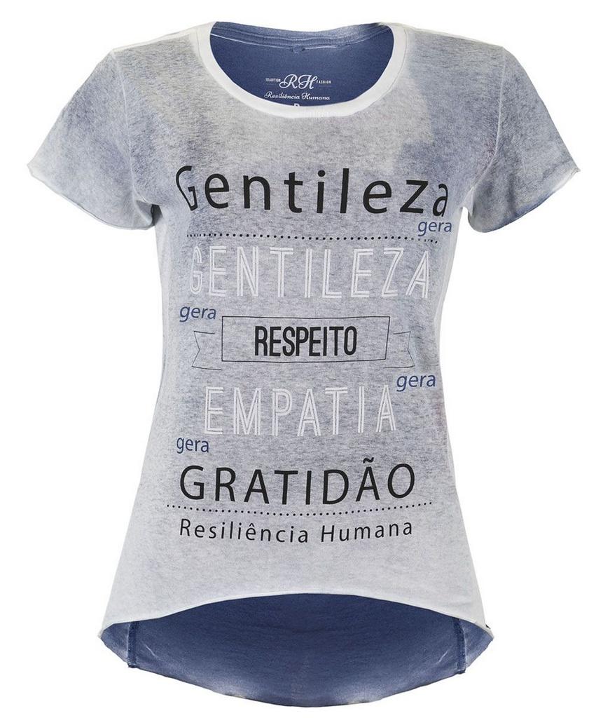 Camiseta Gentileza gera Gentileza - Feminina - Azul
