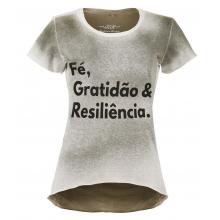 Camiseta Fé, Gratidão & Resiliência - Feminina - Verde