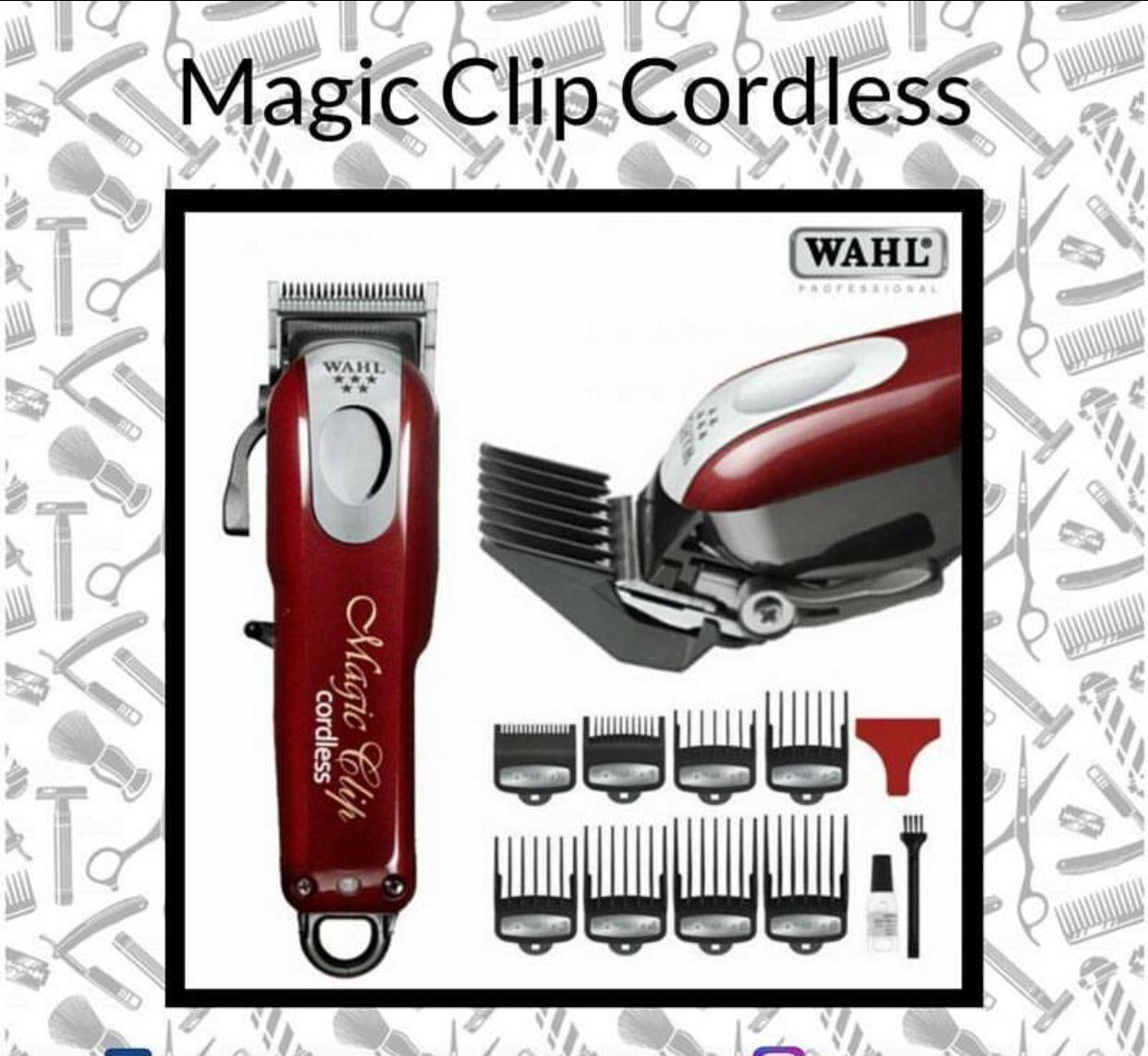 6bf53ecaf MAGIC CLIP MÁQUINA DE CORTAR CABELO SEM FIO WAHL MAGIC CLIP CORDLESS ...
