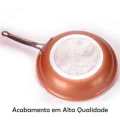 Frigideira Antiaderente de Cerâmica e Titânio - Dispensa o Uso de Óleo - 24 cm