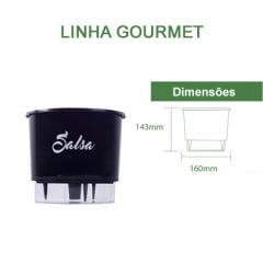 Horta Orgânica (Composta por: Kit Orgânico Para Plantio e Vaso Autoirrigável Raiz) - Médio - Linha Gourmet