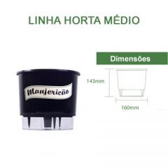 Horta Orgânica (Composta por: Kit Orgânico Para Plantio e Vaso Autoirrigável Raiz) - Médio - Linha Horta