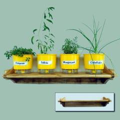 Suporte em Madeira para Vasos de Plantas - Grande
