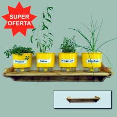 Suporte em Madeira para Vasos de Plantas - Médio