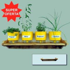 Suporte em Madeira para Vasos de Plantas - Pequeno