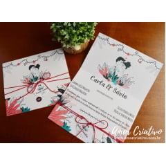 Convite de Casamento Casalzinho