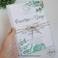 Convite de Casamento Greenery
