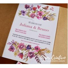Convite de Casamento Love Birds