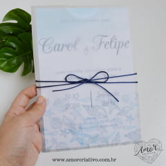 Convite de Casamento Marine