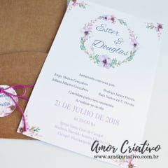 Convite de Casamento Romantic