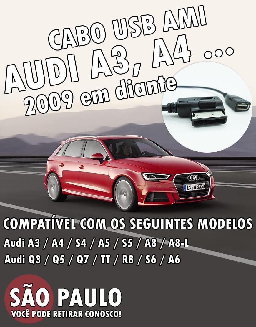 Cabo Usb Ami Audi A3 A4 A6 Entre Outros