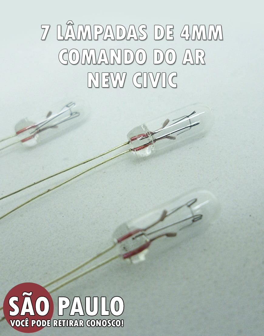 7 Lâmpadas De 4mm Comando do AR New Civic