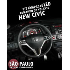 Kit Lampadas Led Comando Do Volante New Civic