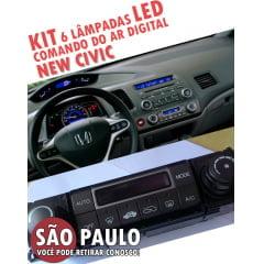 kit 6 lampadas led 4mm comando ar digital new civic