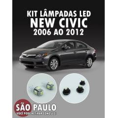 Kit Lampadas Led New Civic 2006 Ao 2011
