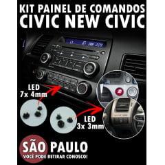 Kit Lâmpadas Painel De Comandos New Civic Led 3x 3mm e 7x 4mm